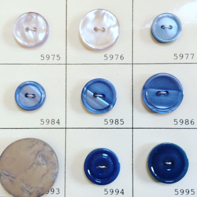 Loraine Callow Designs Vintage Buttons Blue 1