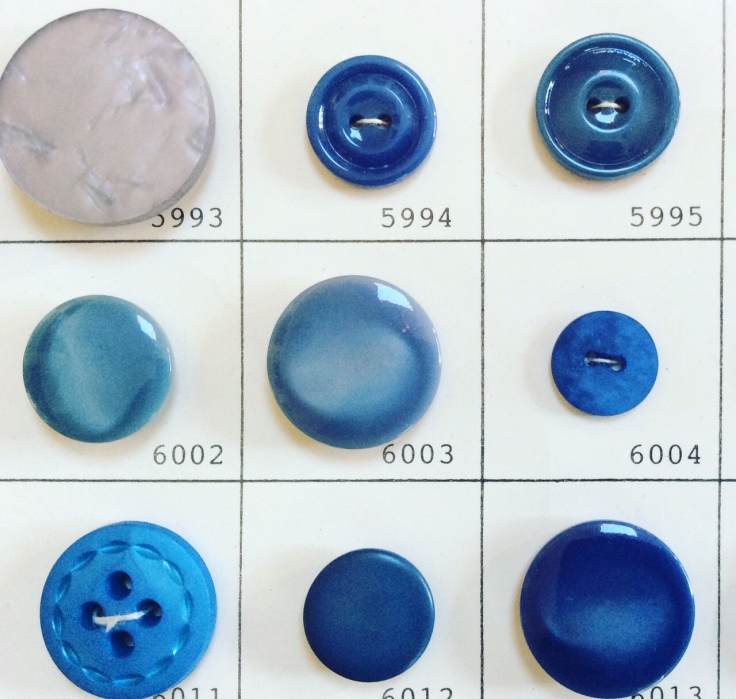 Loraine Callow Designs Vintage Buttons Blue 2