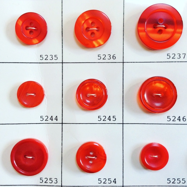 Loraine Callow Designs Vintage Buttons Red 1